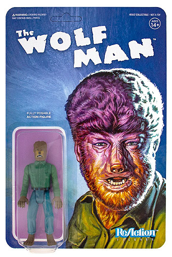 "Wolf Man 3.75 "" ReAction Figure Universal Monsters Series"