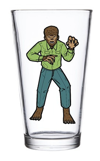 Wolfman Werewolf Universal Monsters Pint Glass