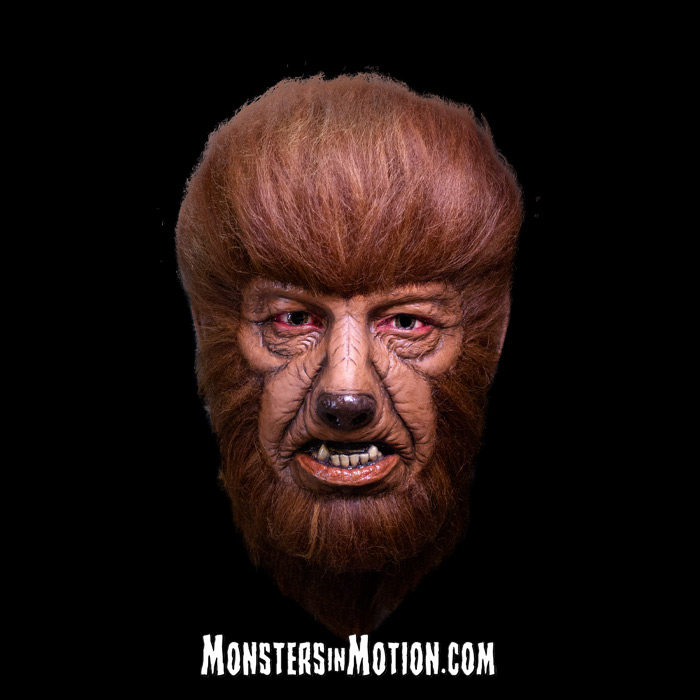 Wolfman Lon Chaney Deluxe Latex Mask Universal Studios Monsters