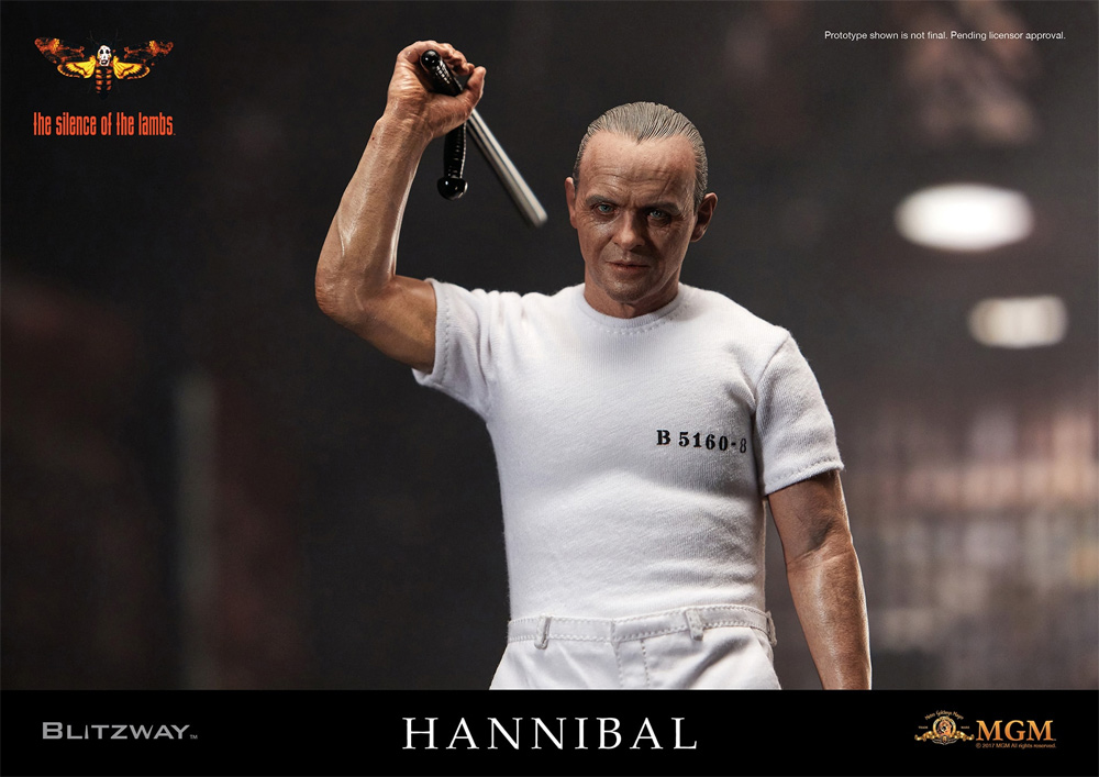 Silence of the Lambs Hannibal Lecter 1/6 Figure Prison Uniform Version by Blitzway