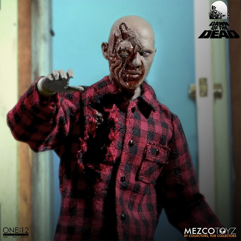 Dawn Of The Dead Plaid Shirt and Flyboy Zombie ONE:12 COLLECTIVE Figures - Click Image to Close