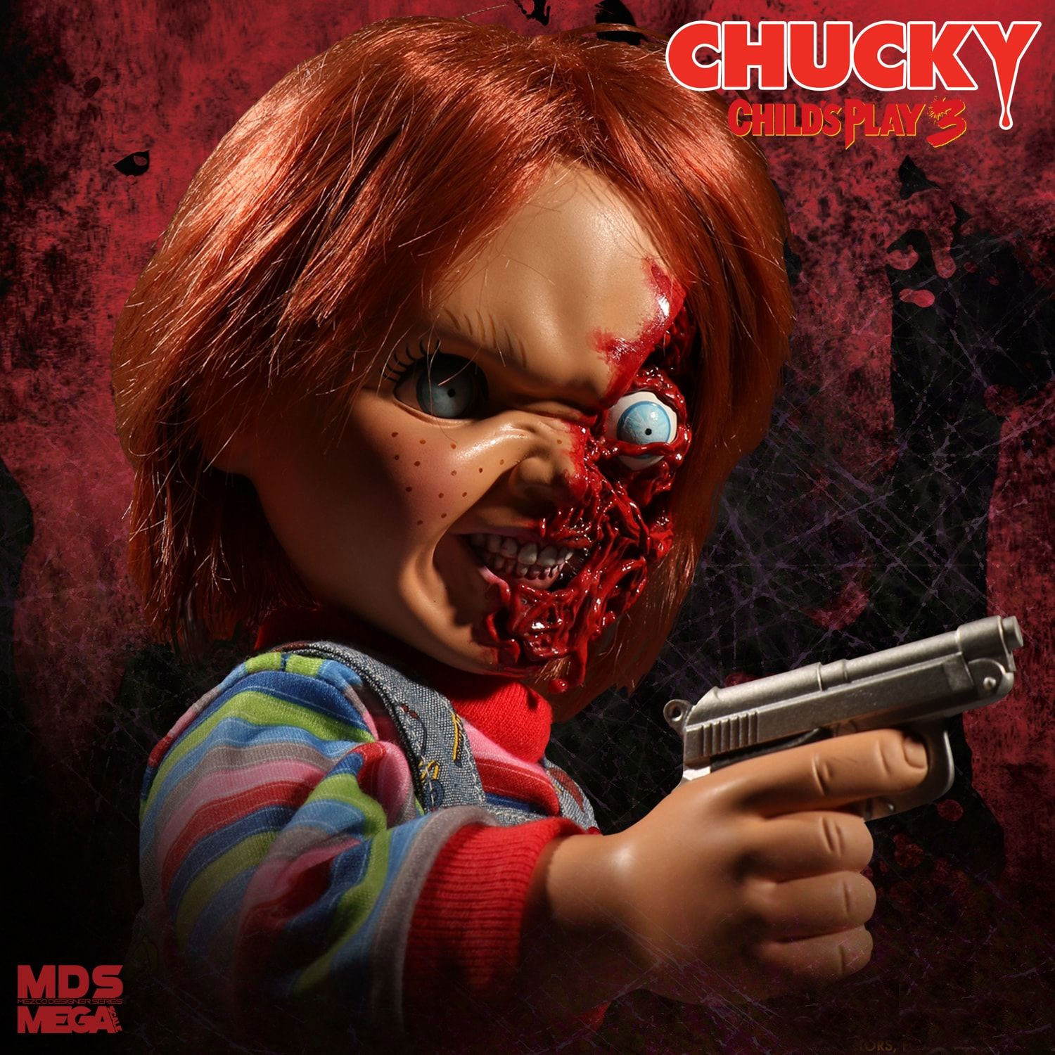 "Child's Play 3 Pizza Face Chucky 15"" Talking Doll"