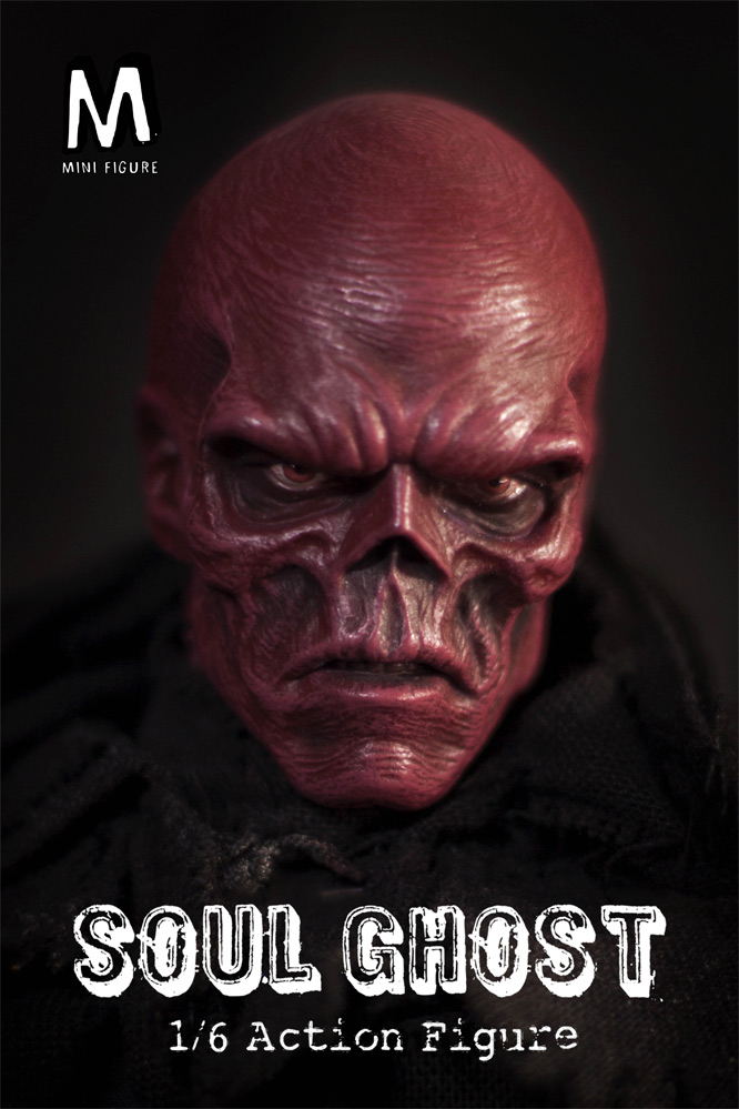 Soul Ghost 1/6 Scale Figure by Mini Figure with Red Skull