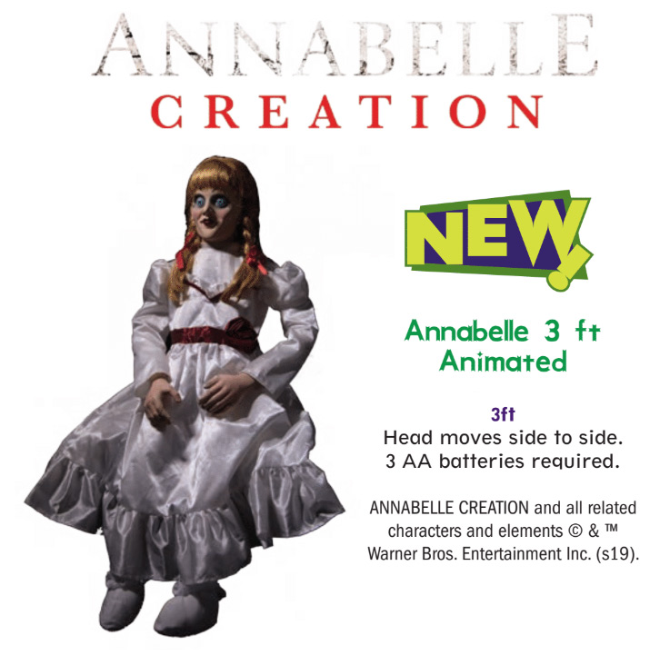 Annabelle Creation 3 Foot Tall Animated Halloween Prop