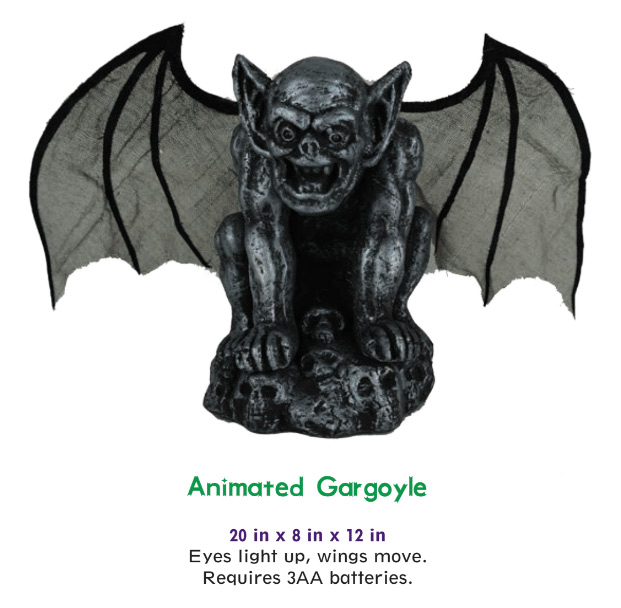"Gargoyle 20"" Tall Animated Halloween Display"