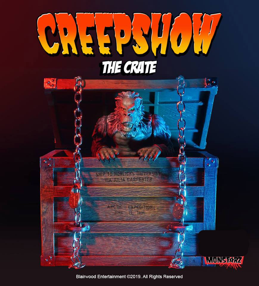 "Creepshow The Crate with Fluffy 3.75"" Scale Retro Action Figure by Monstarz"