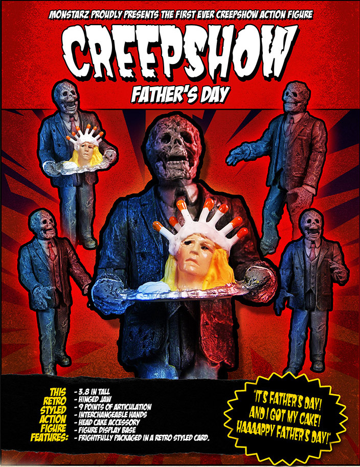 "Creepshow Fathers Day 3.75"" Scale Retro Action Figure by Monstarz"