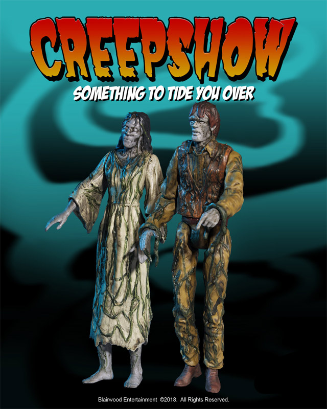 "Creepshow Something to Tide You Over 3.75"" Scale Retro Action Figure 2-Pack by Monstarz"