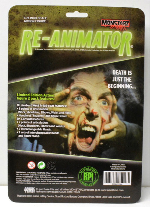 "Re-Animator Dr. Herbert West and Dr. Carl Hill 3.75"" Scale Retro Action Figure 2 pack by Monstarz"
