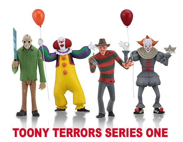 "Toony Terrors 6"" Scale Action Figure Set of 4 by Neca"
