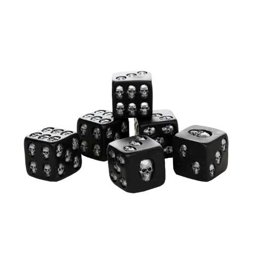"Skull Dice 1.5"" Set of 6"