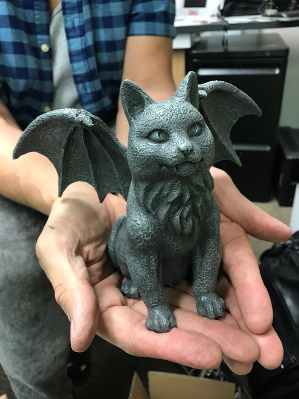 Gargoyle Winged Vampire Cat Statue