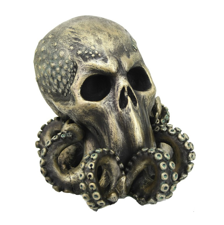 Cthulhu Skull Cold Cast Resin Statue H.P. Lovecraft