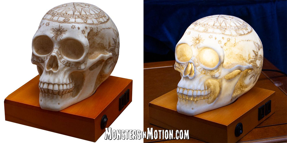Astrology Skull Lamp with LED and USB Charging Ports