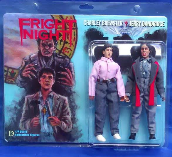 "Fright Night Charlie Brewster and Jerry Dandridge 8"" Retro Mego Style Figures Set"