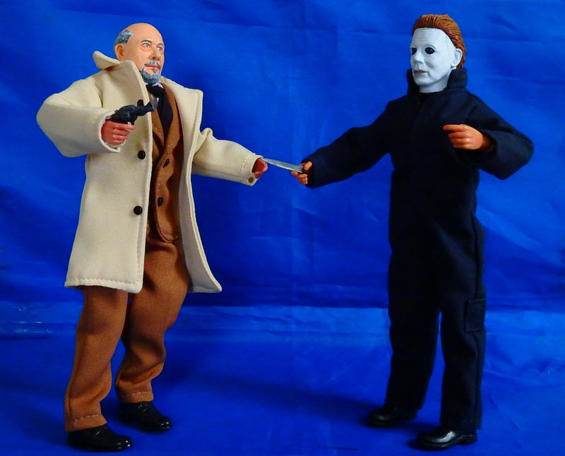 "Halloween Michael Myers and Dr. Loomis 8"" Retro Mego Style Figure 2-Pack"