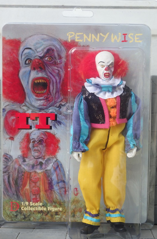 "It Pennywise The Clown Acid Face 8"" Retro Mego Style Figure"