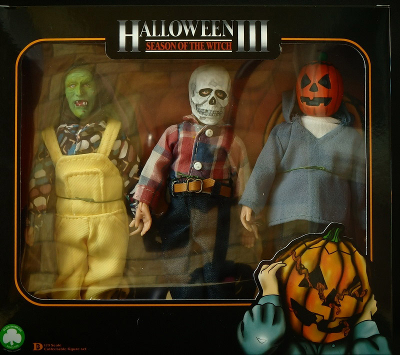 "Halloween III Silver Shamrock Masked Children 3-Pack 8"" Scale Retro Mego Style Figure LIMITED EDITION"