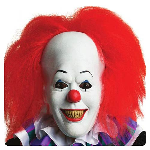 It Pennywise The Clown Overhead Latex Mask with Hair Stephen King
