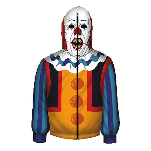 It Pennywise The Clown Zip-Up Hoodie Stephen King STANDARD