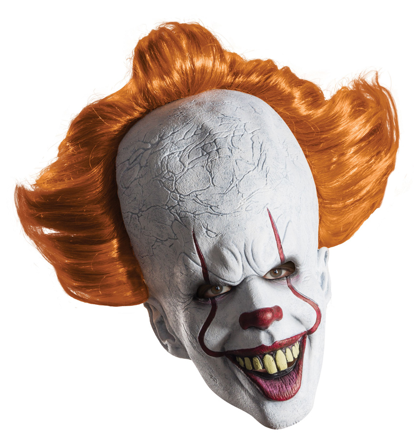 It 2017 Pennywise The Clown Overhead Mask with Wig