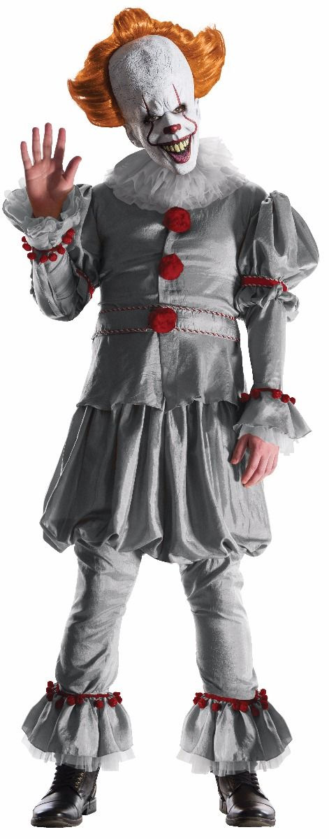 It 2017 Pennywise The Clown Grand Heritage Costume Size XL