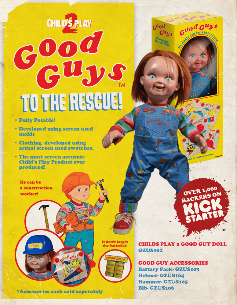 Child's Play Good Guys Chucky Life-Size Prop Replica - Click Image to Close