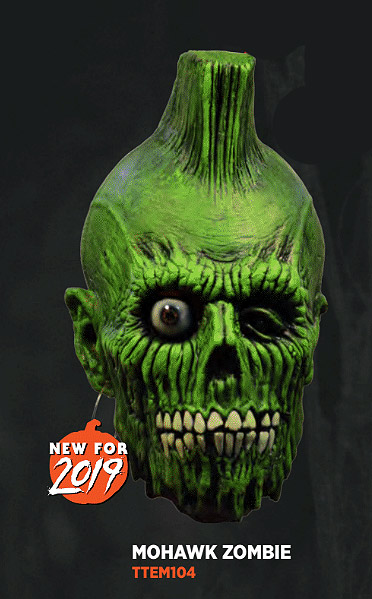 Return of the Living Dead Mohawk Zombie Latex Mask