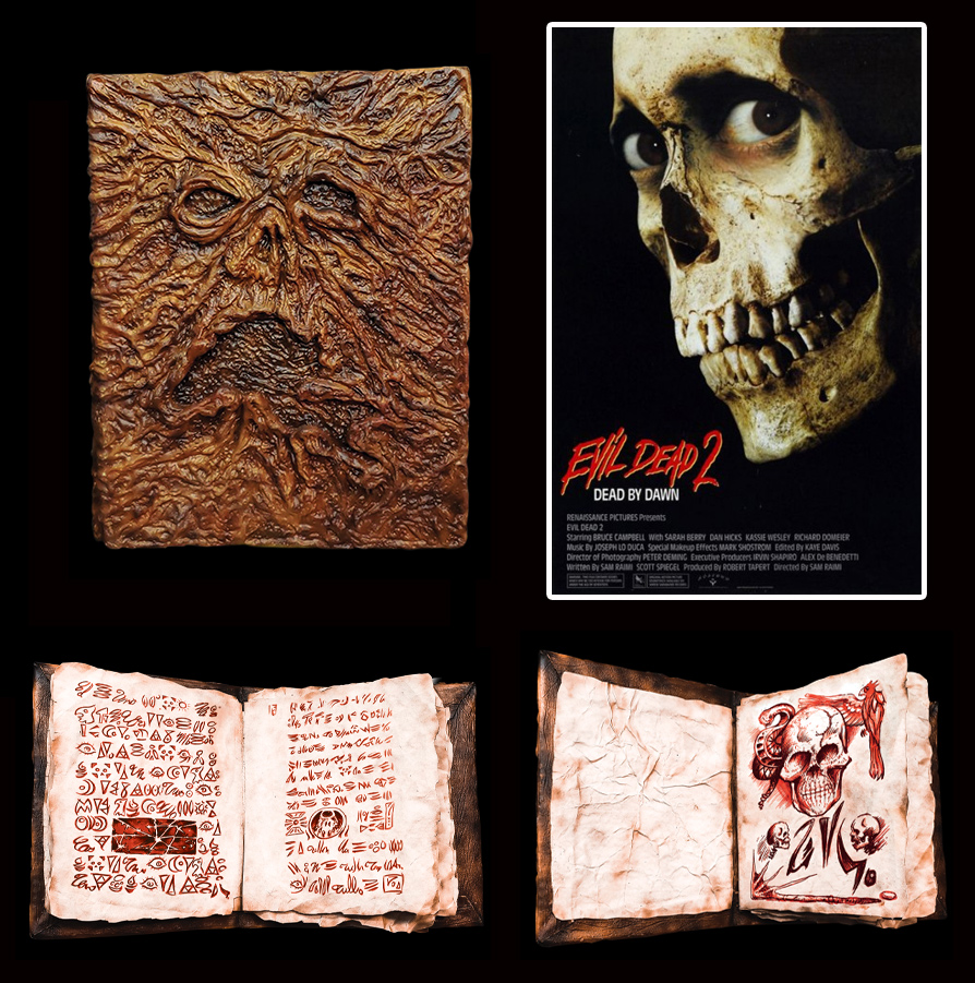 Evil Dead 2 Necronomicon Book Of The Dead Prop Replica with Printed Pages