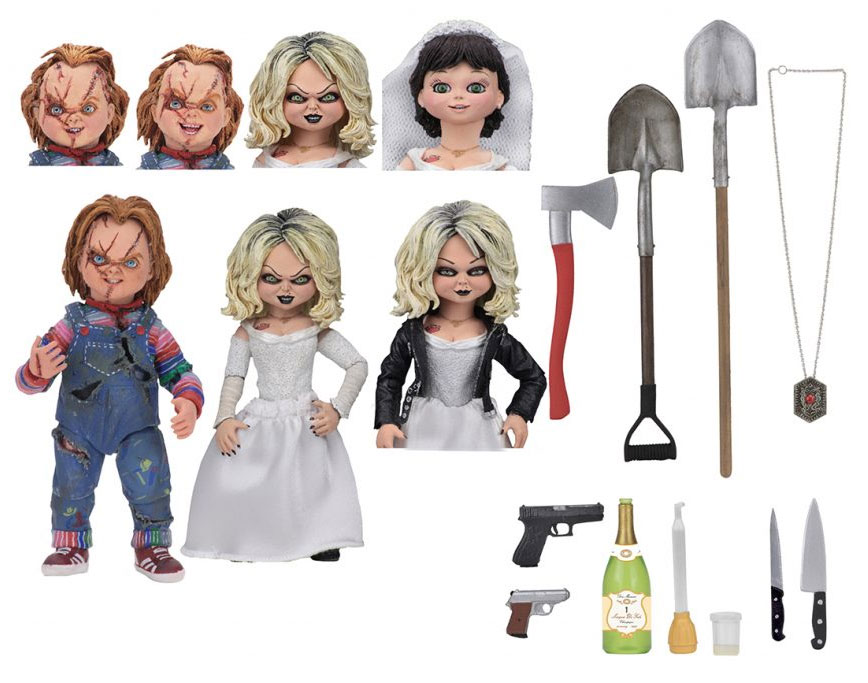 "Child's Play Bride of Chucky and Tiffany Ultimate 7"" Scale Figure 2-Pack"