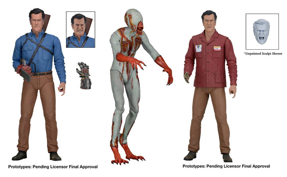 "Ash vs. Evil Dead TV Series 7"" Scale Action Figures Series 1 Set of 3"