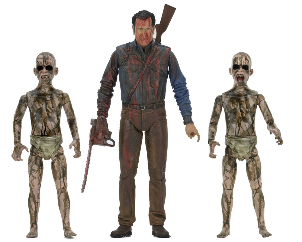 "Ash vs. Evil Dead TV Series 7"" Scale Figures Bloody Ash vs Demon Spawn 3-Pack"