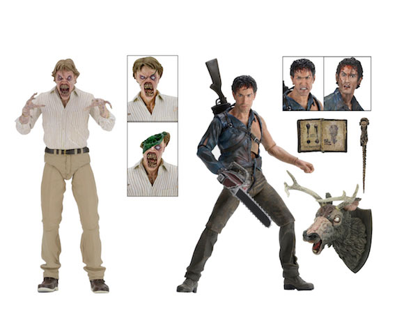 "Evil Dead 2 Hero Ash and Deadite 30th Anniversary 7"" Figure Set of 2"