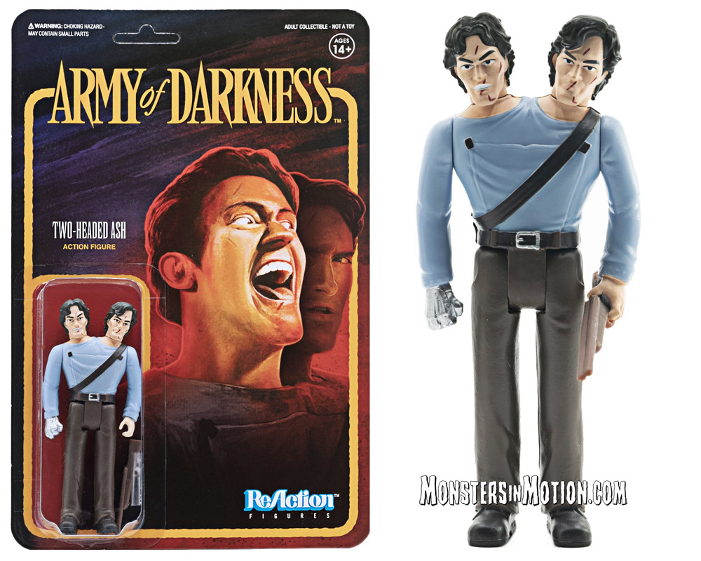 Evil Dead Army of Darkness Two-Headed Ash 3 3/4-Inch ReAction Figure
