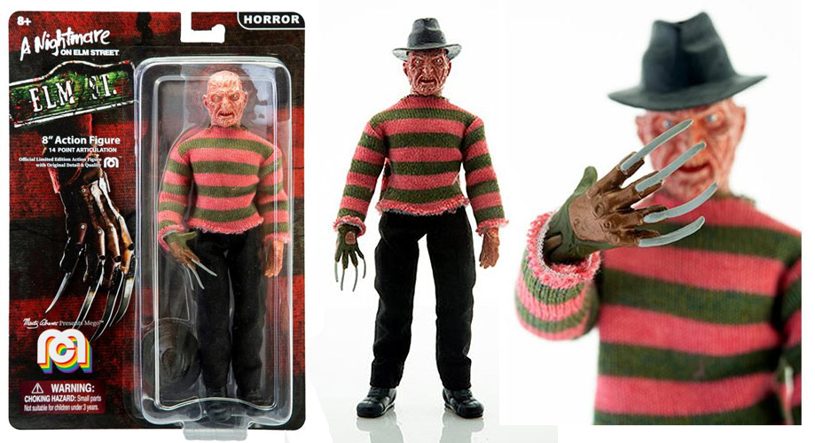 "Nightmare On Elm Street Freddy Krueger 8"" Figure by Mego"