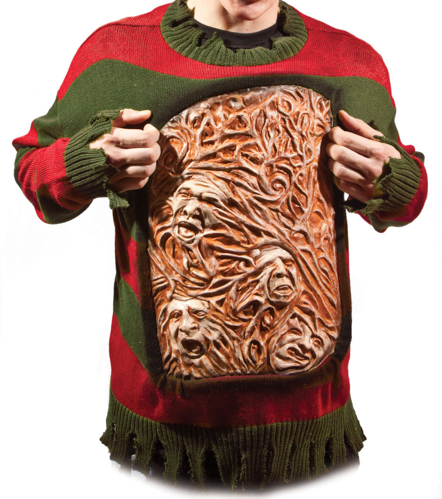 Nightmare On Elm Street Freddy Animated Chest Of Souls Sweater