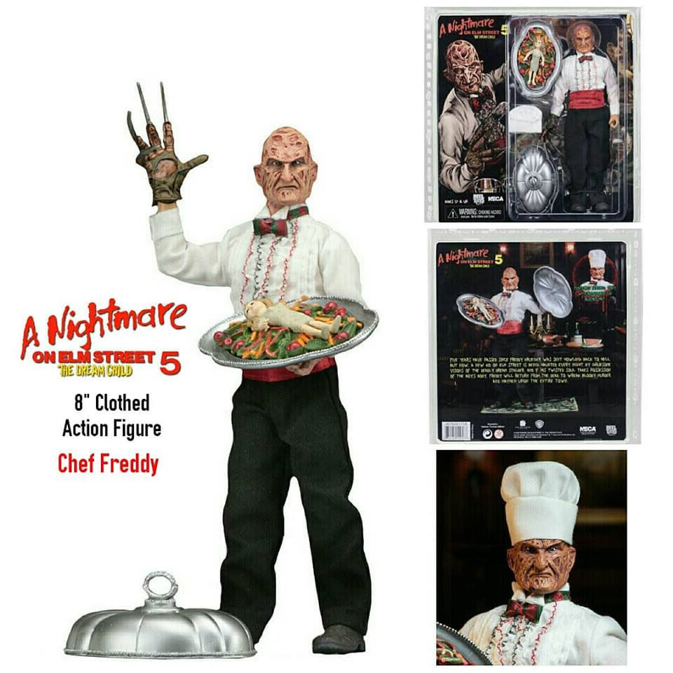 "Nightmare on Elm Street 8"" Clothed Figure Part 5 Chef Freddy"