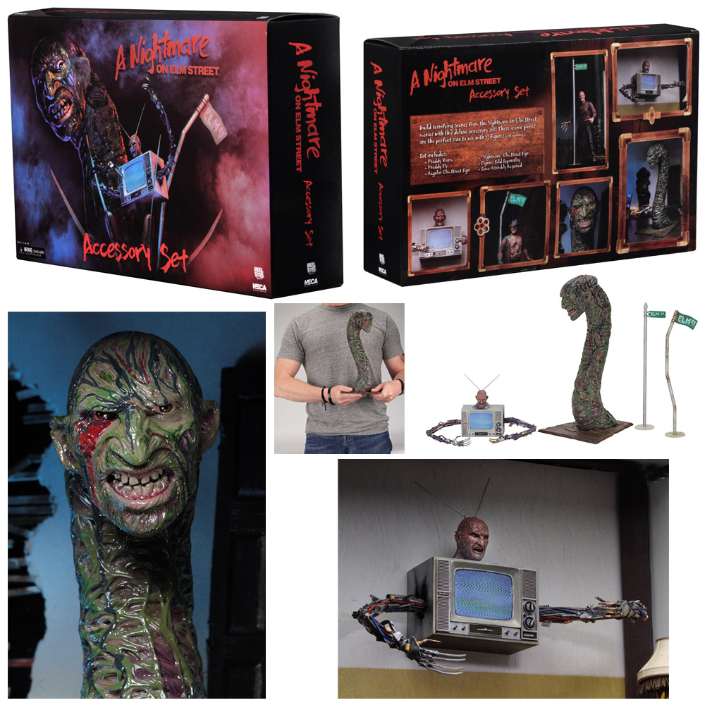 Nightmare on Elm Street Deluxe Accessory Pack Snake & TV Freddy Set
