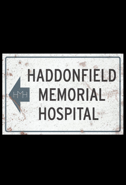 Halloween II Haddonfield Memorial Hospital Metal Sign