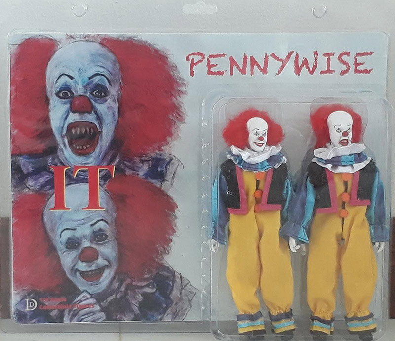 "It 1990 Pennywise the Clown 2 Pack 8"" Retro Mego Style Figures"