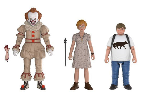 It 2017 Action Figure 3 Pack #2 Pennywise, Beverly and Ben