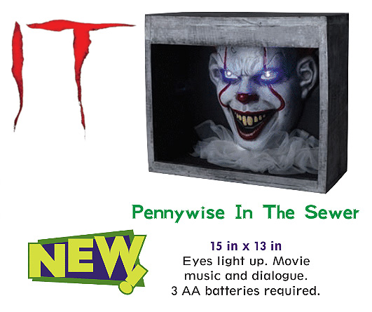 It 2017 Pennywise in Sewer Halloween Prop Display