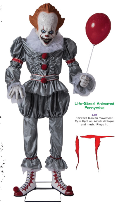 It 2017 Pennywise the Clown Life-Size Animated Display