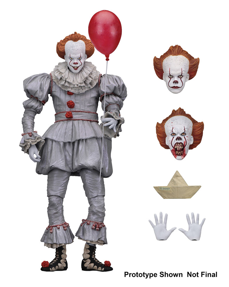 It 2017 Pennywise The Clown Ultimate Action Figure