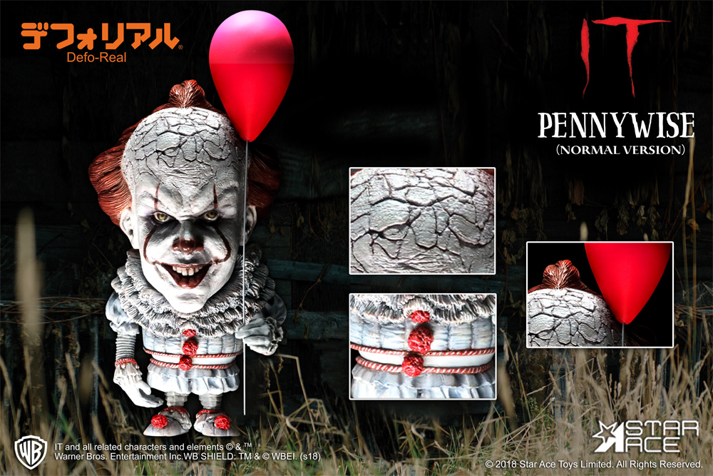 It 2017 Pennywise Defo-Real Super Deformed Figure (Normal Version)