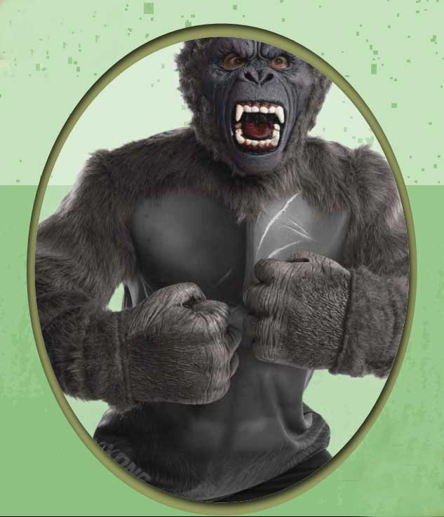 Kong Skull Island King Kong Adult Foam Hands