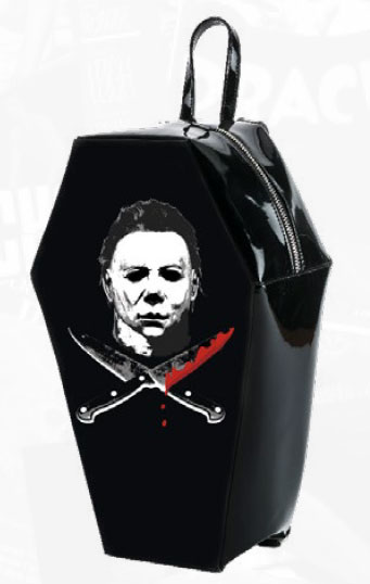 Halloween Michael Myers Coffin Shaped Back Pack Handbag
