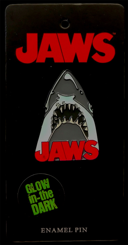 Jaws Movie Poster Shark Enamel Pin (Glow In The Dark)