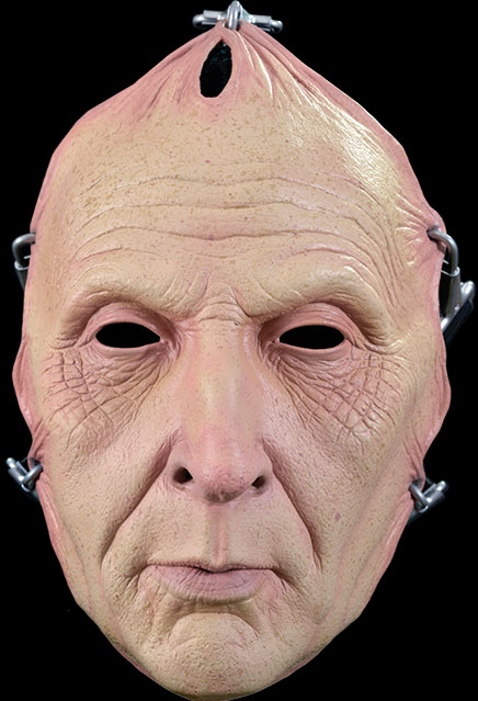 Saw Jigsaw Pulled Flesh Face Adult Latex Halloween Mask