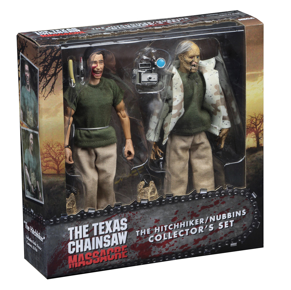 "Texas Chainsaw Massacre Hitchhiker / Nubbins 8"" Figures Set of 2"